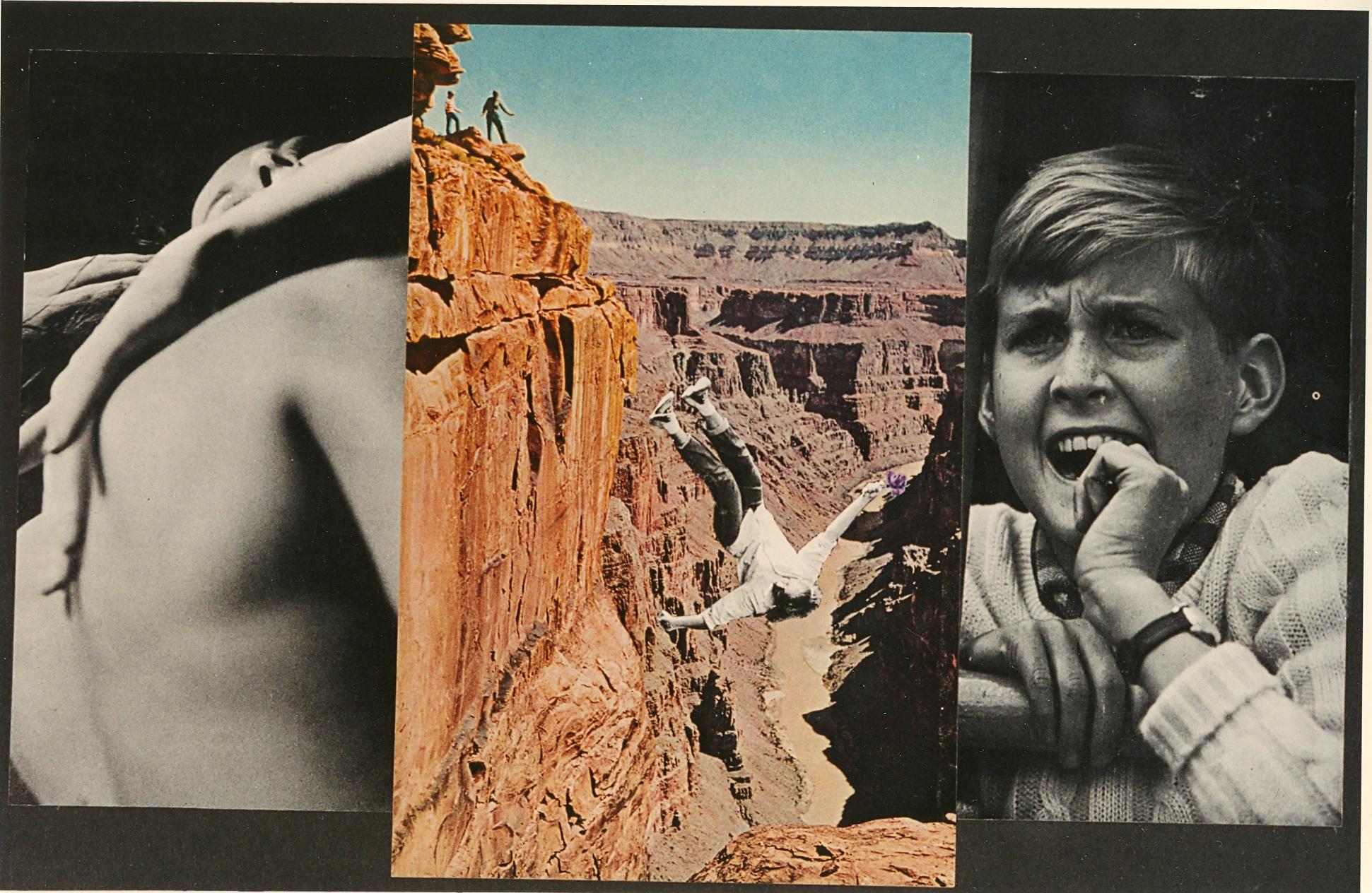 David King.  Falling (Grand Canyon), 1996. photo-collage, 9'' x 14''.