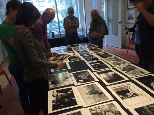 Scene from June Members' Critique; Photographs by Deana Collins.