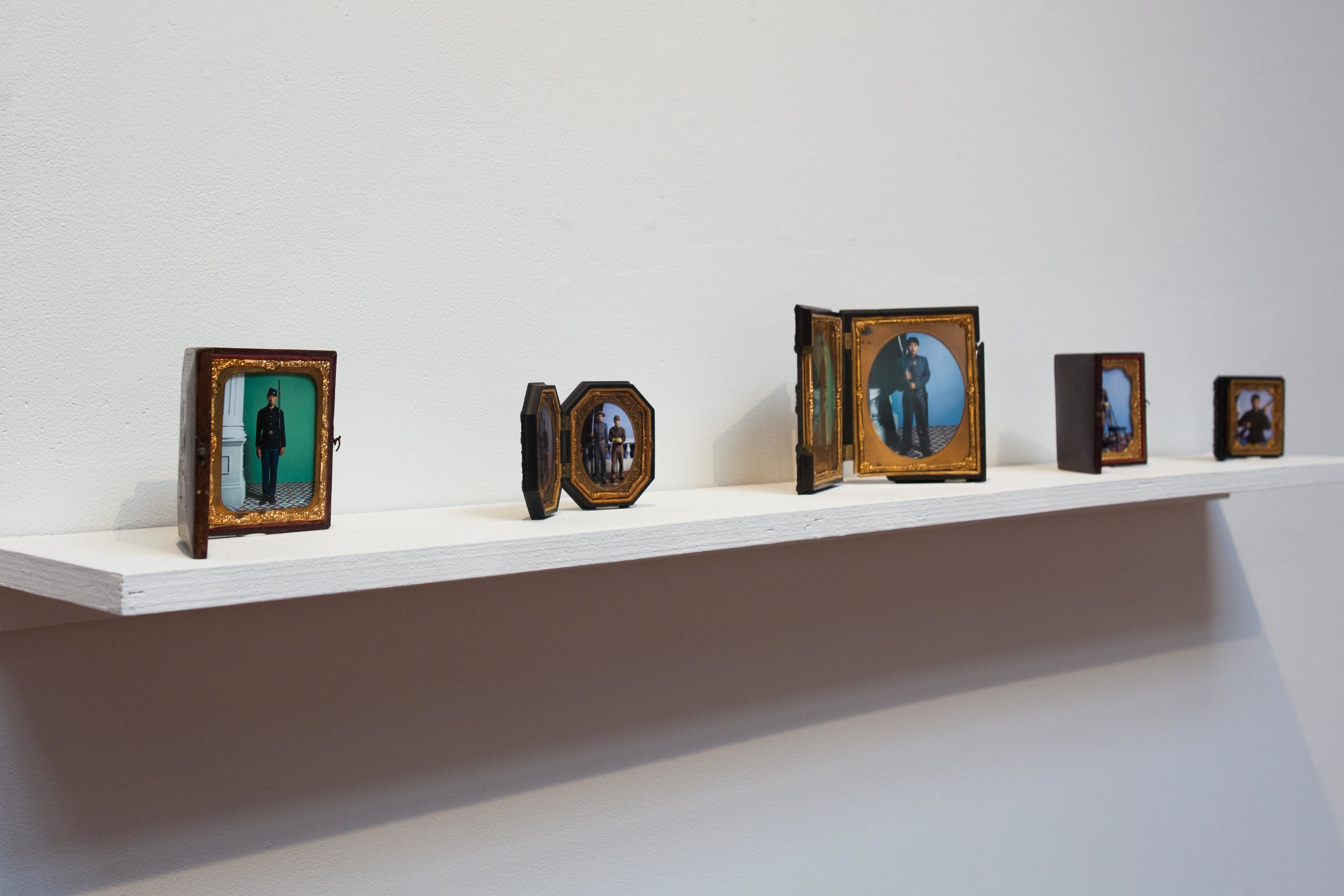 Installation view of Bruce Yonemoto's NSEW