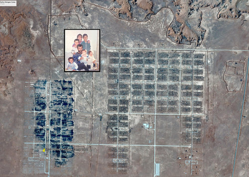 Image courtesy of Wesaam Al-Badry. This image depicts the refugee camp where Wesaam and his family spent four-and-a-half years.