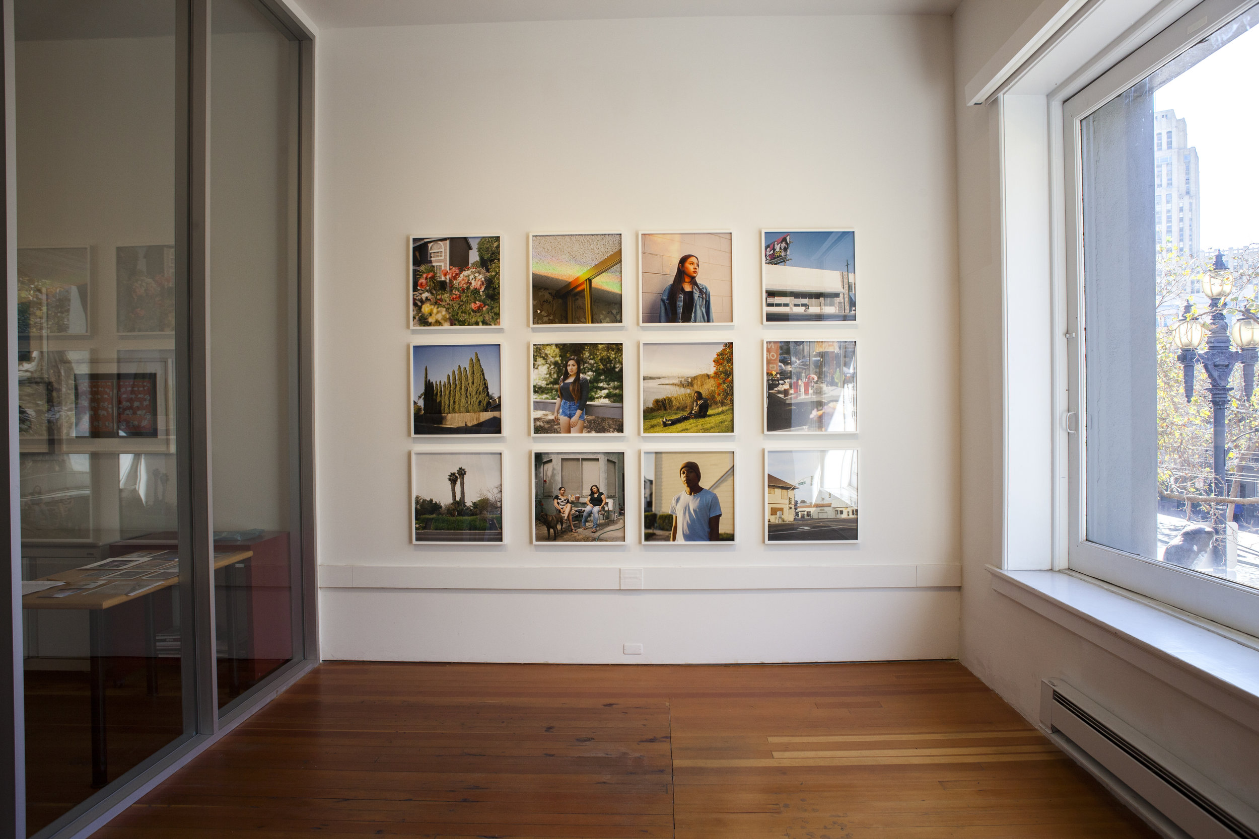 Installation shot of Amanda Boe's work.