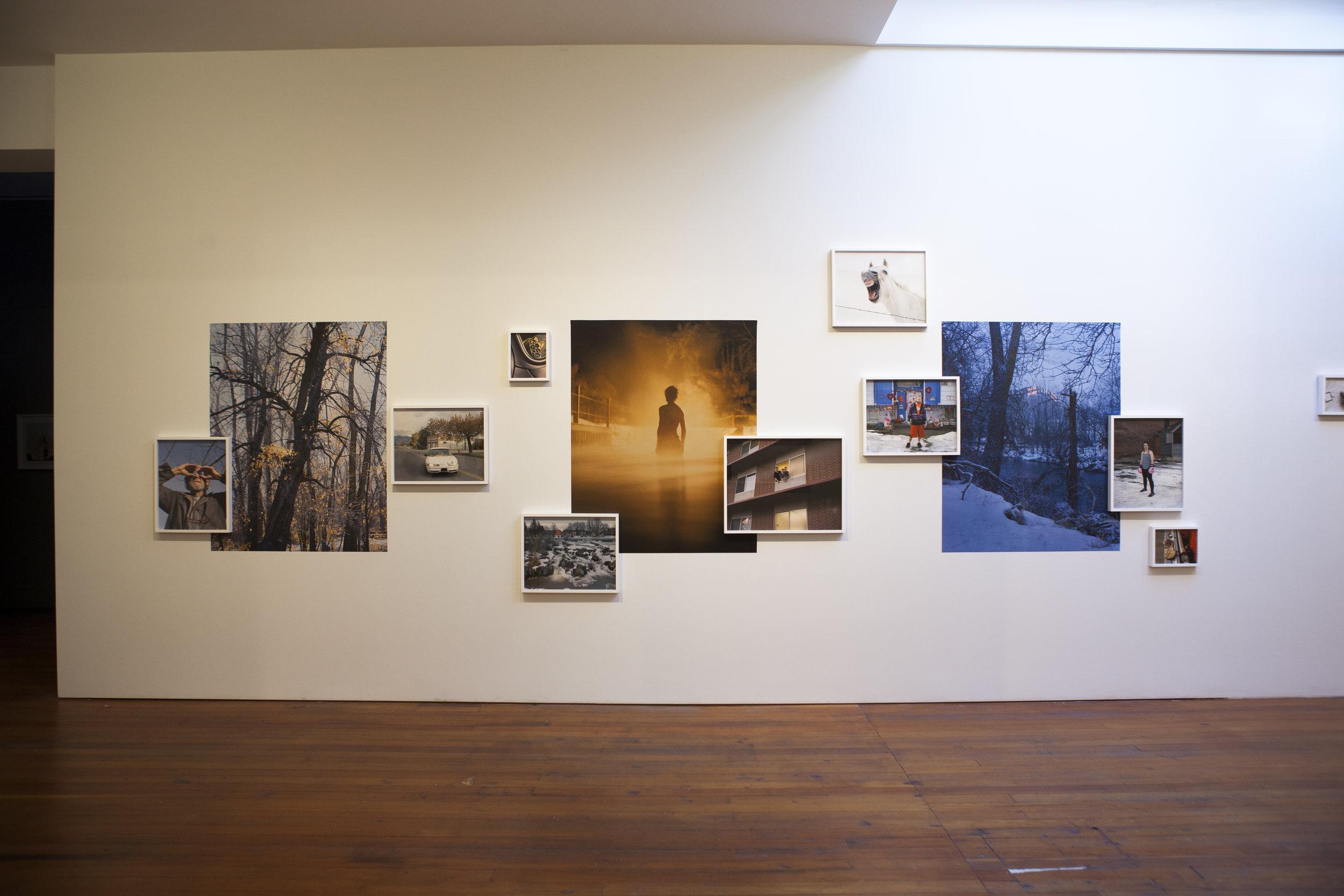 Installation shot of McNair Evans work.