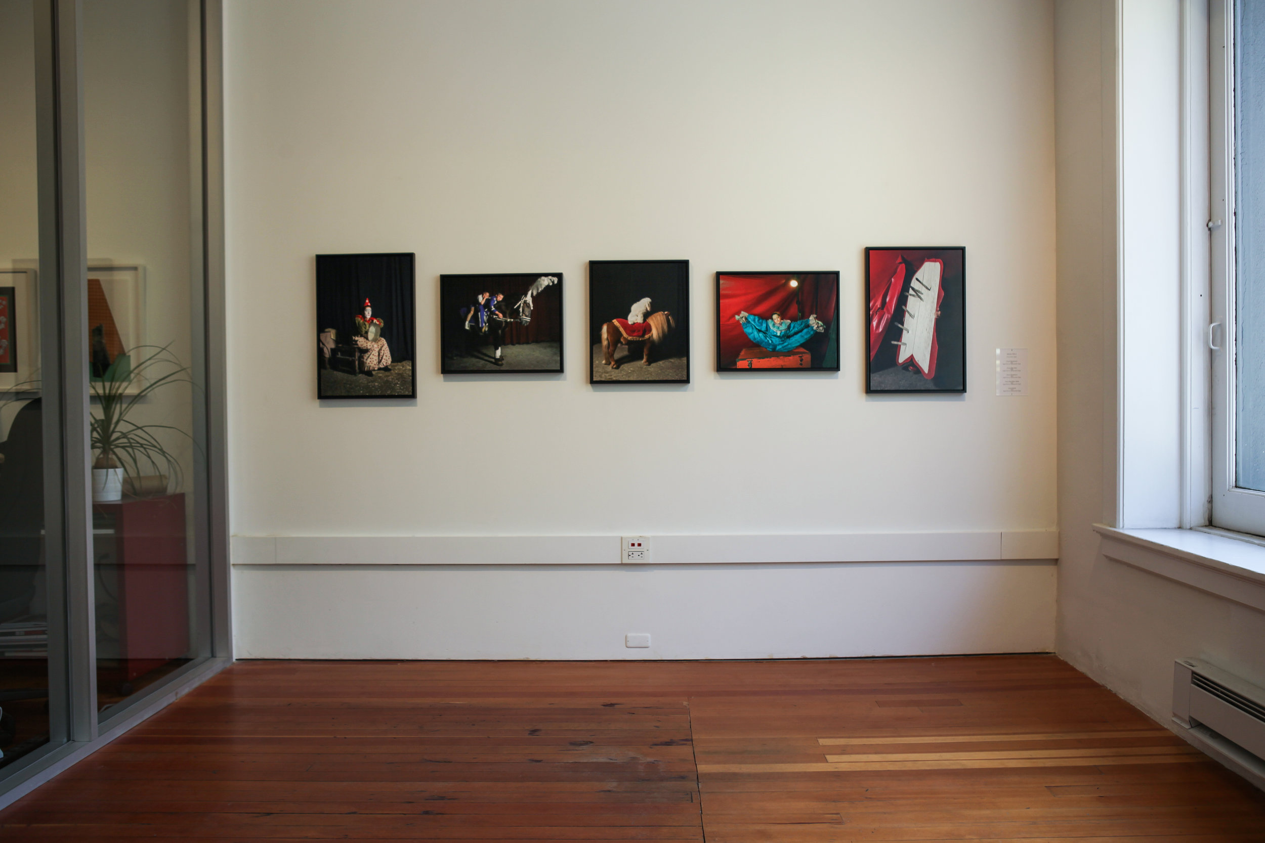 Installation view of Wiesje Peels' series Circus Renaissance.