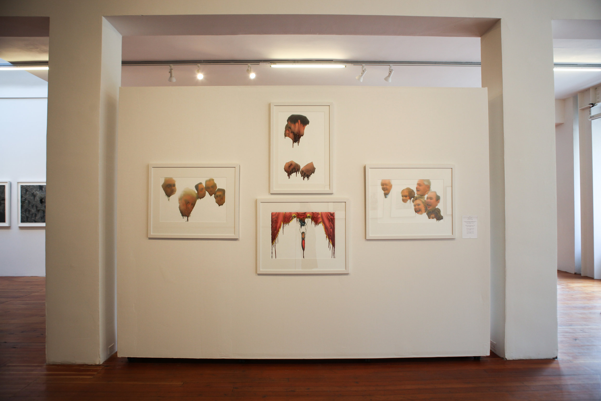 Installation view of Anna Rotty's work.