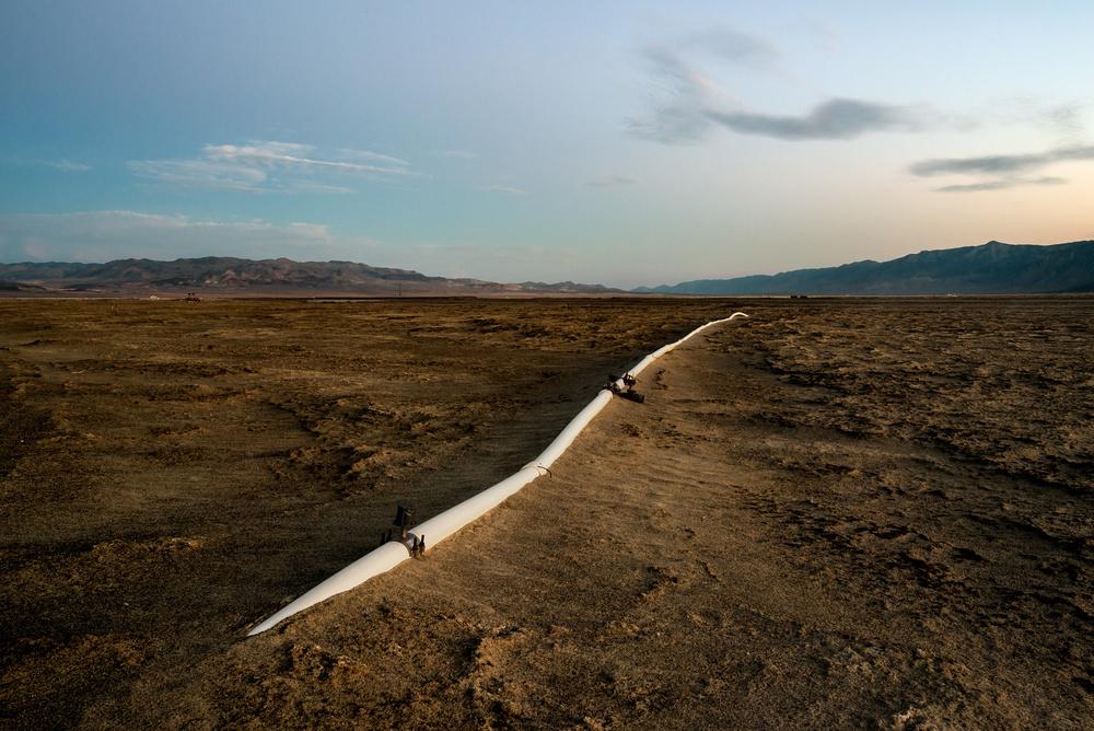 Jennifer Little,  LADWP Irrigation Pipe, Owens Lake, CA ; 2015 finalist