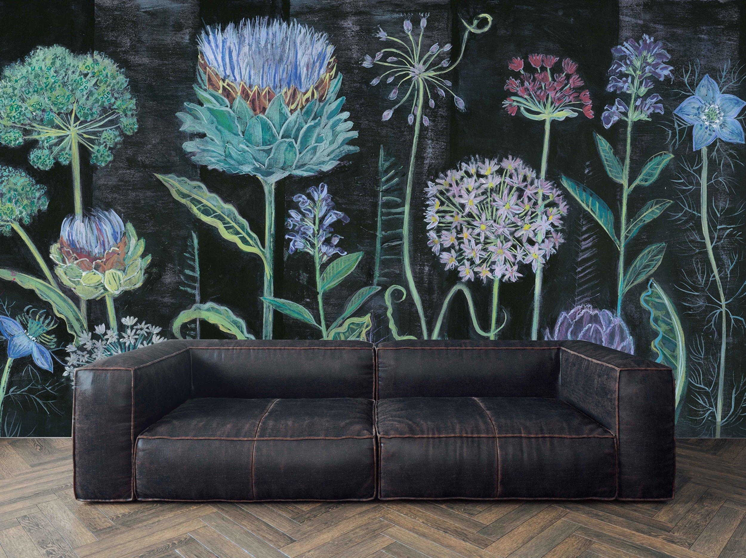 Allium Mural Wallpaper