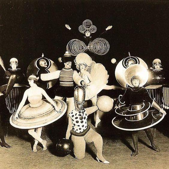 Triadic Ballet costumes by Oskar Schlemmer