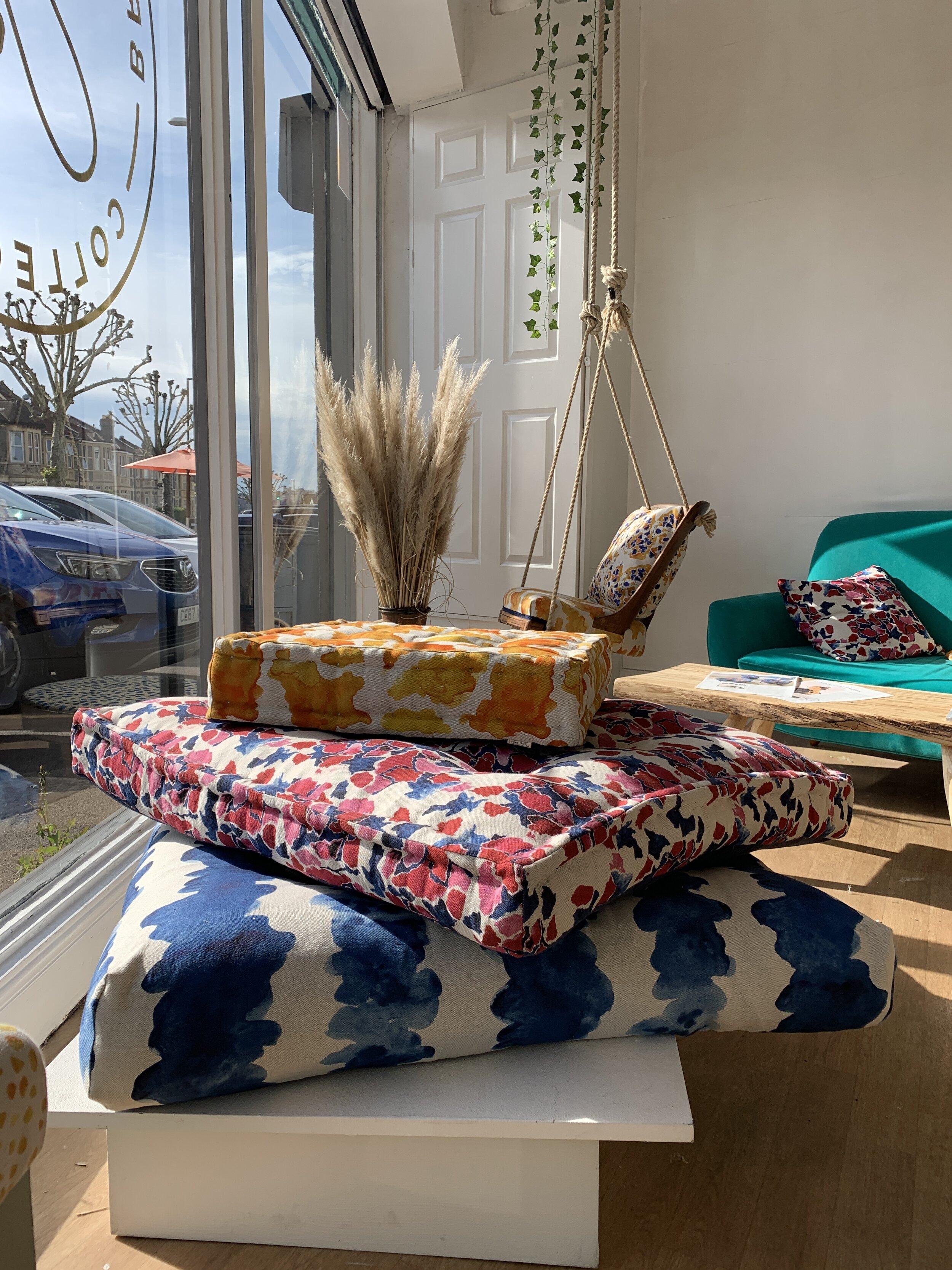 Bethie Tricks Textile Design Box Cushion