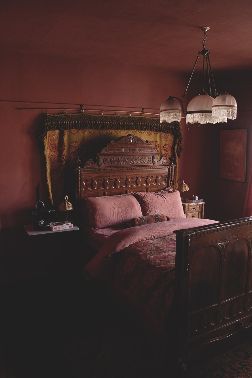 Cassie's antique filled bedroom