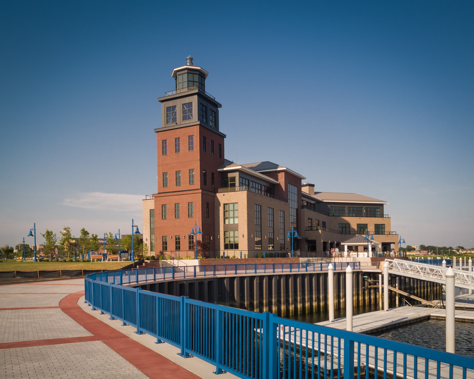Dockmasters Building at the Steelpointe Harbor Marina, Bridgeport CT