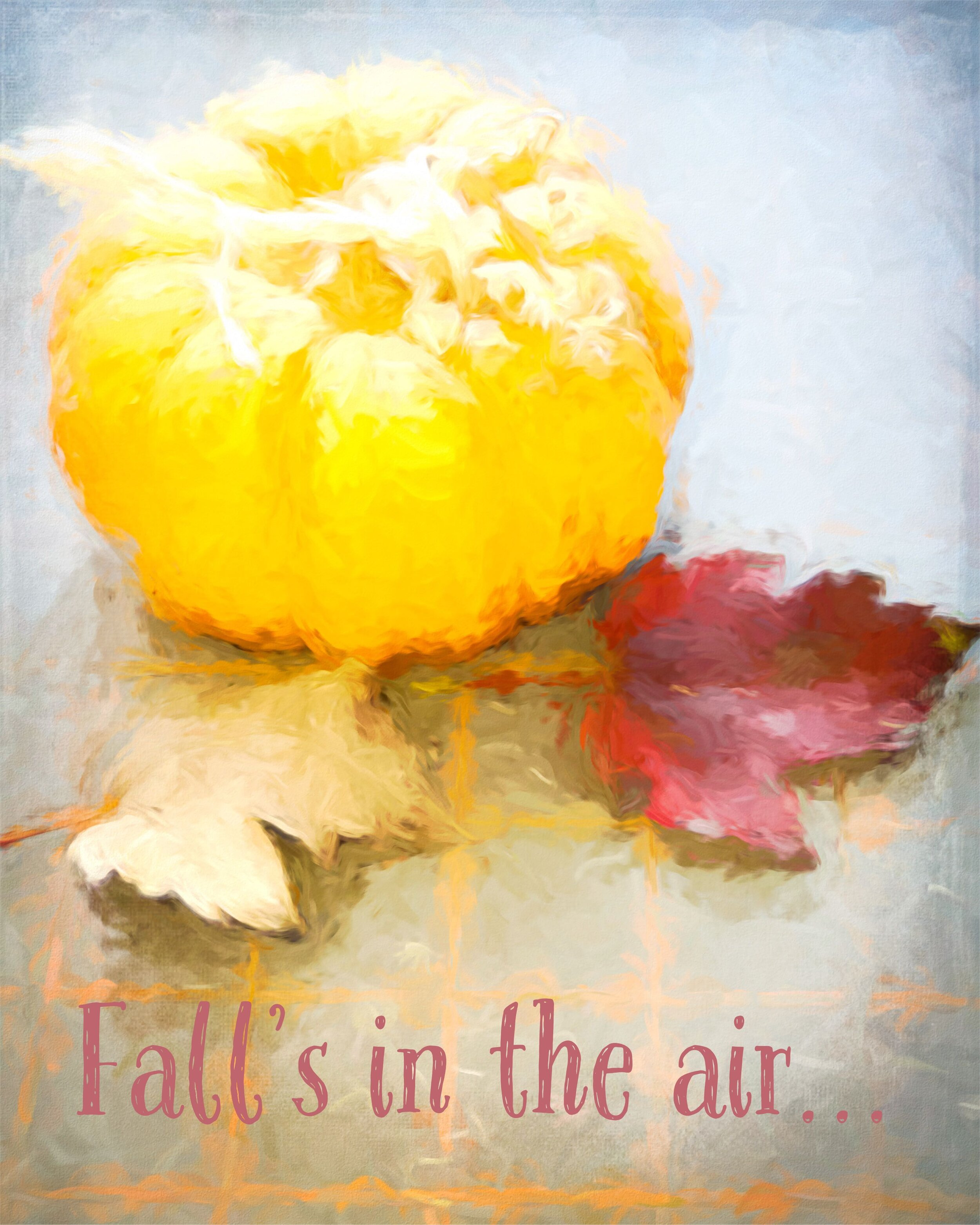 Fall's in the air…