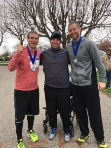 TBF 2017 Steps for Hope Half Marathon 1st Place Relay Team Andrew Peter, Travis Burkhart & Clint Ramsey.