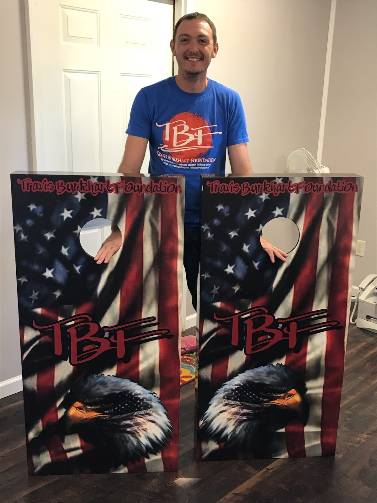 Keith Martin is the winner! - Keith Martin of Knox County was our winner of the TBF Corn Hole Boards!Congratulations Keith, Thank you for supporting TBF!!