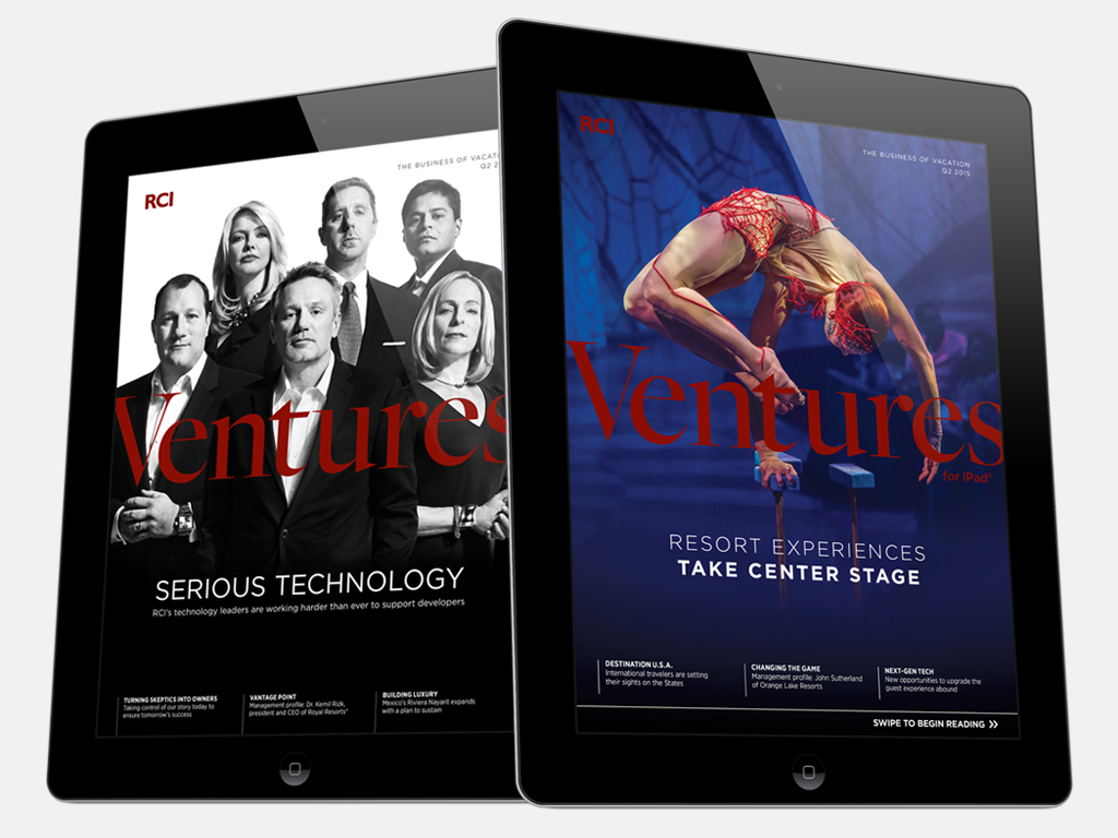 For our cover featuring Cirque du Soleil, we wove together a video of still images and music from the featured show.