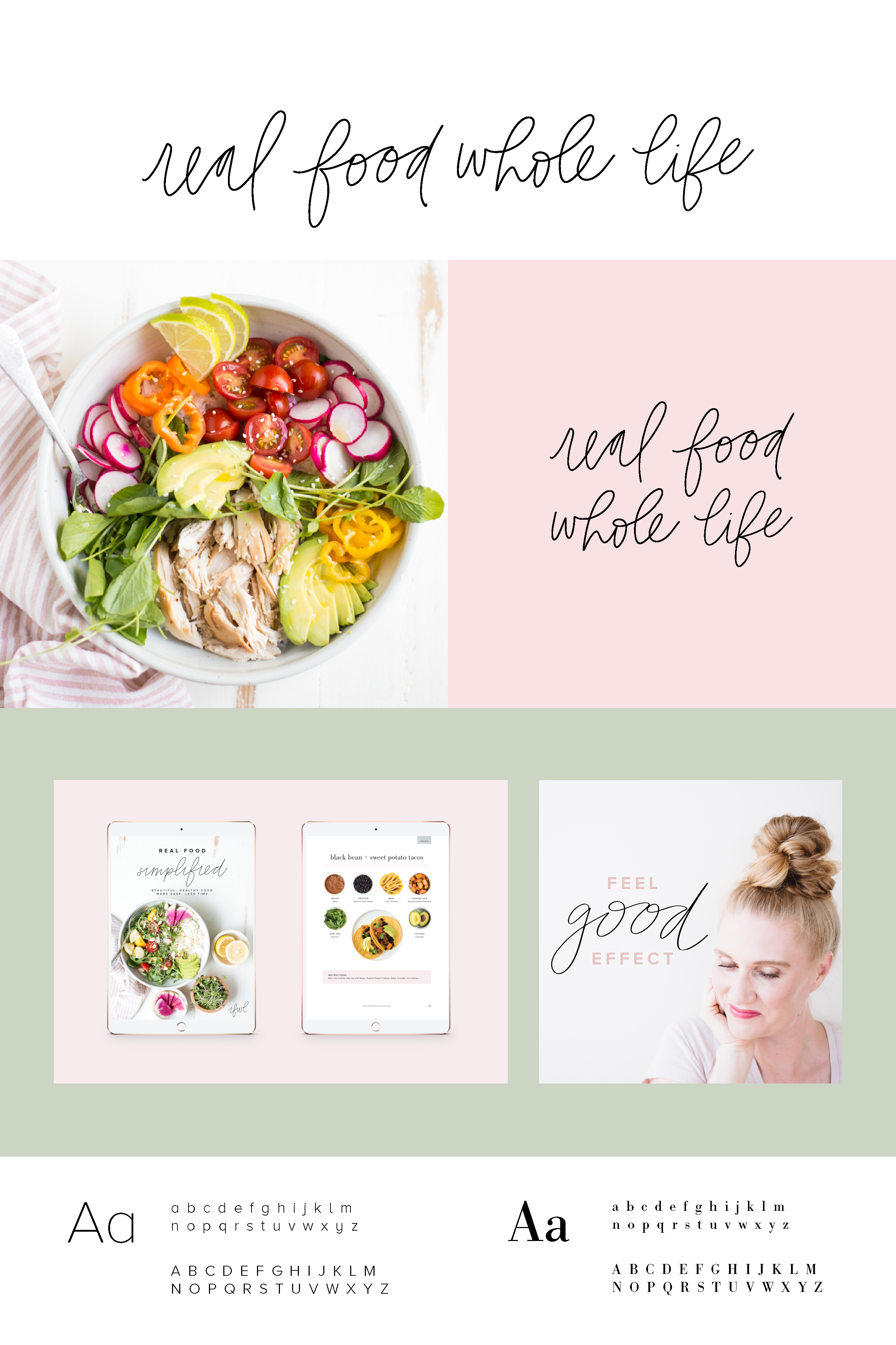 real+food+whole+life+blogger+blog+logo+design+simplified+download
