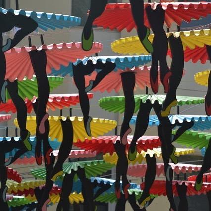 A colourful novel way to provide shade