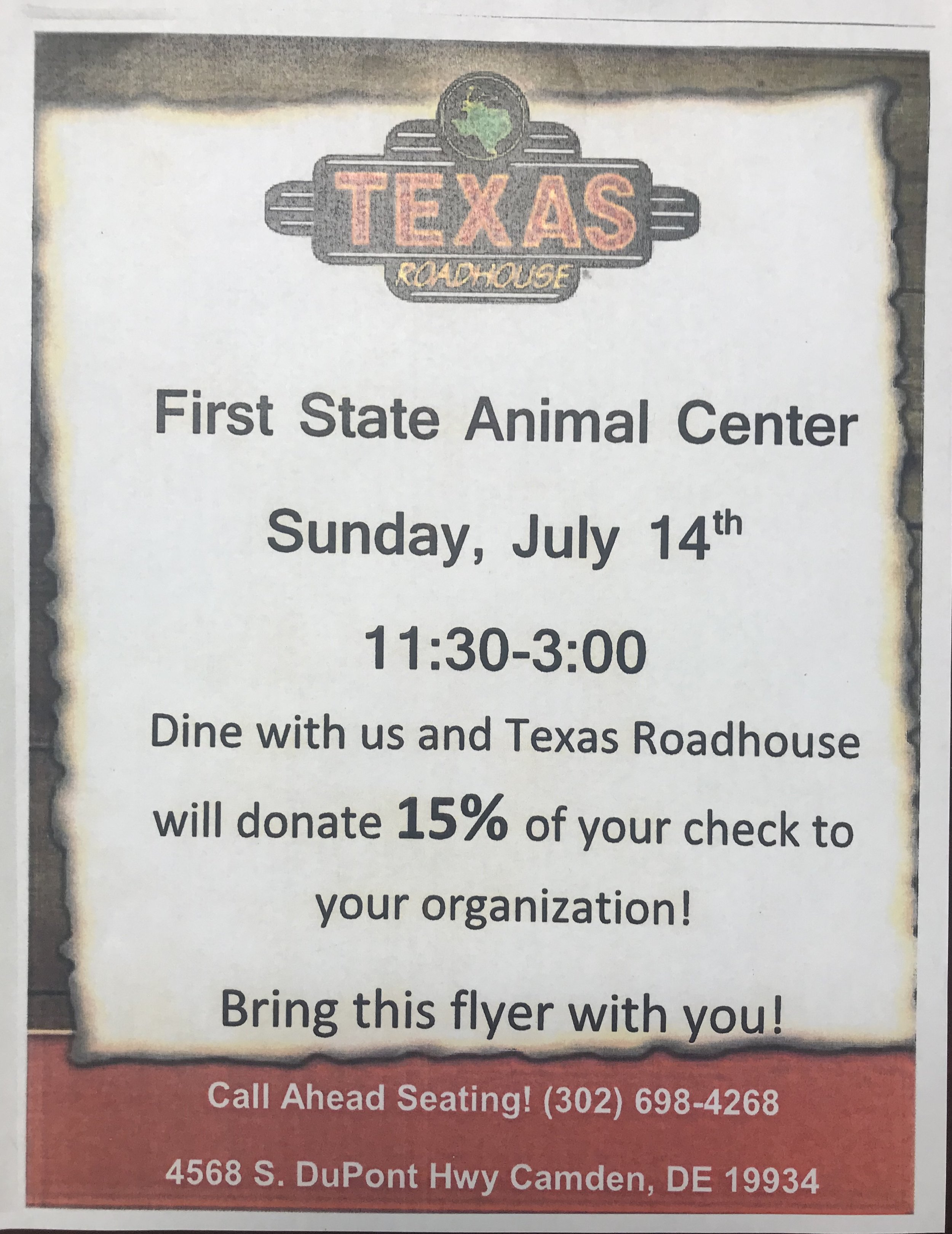 CALENDAR OF EVENTS — First State Animal Center and SPCA