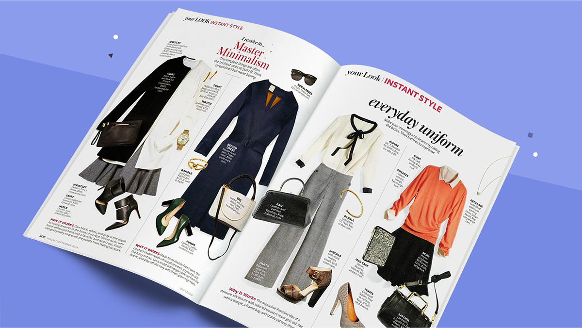 These features from InStyle were some of their most popular spreads. We used them to inform the digital prototype.