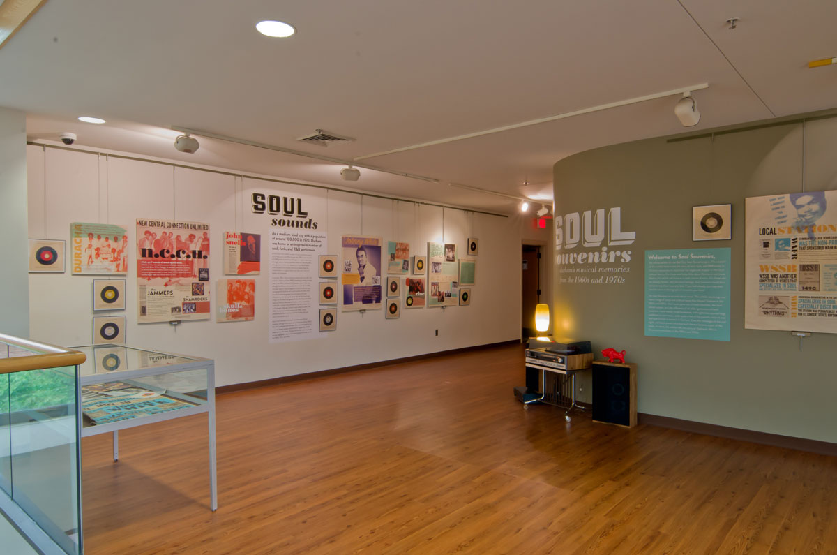 Installation view: Hayti Heritage Center