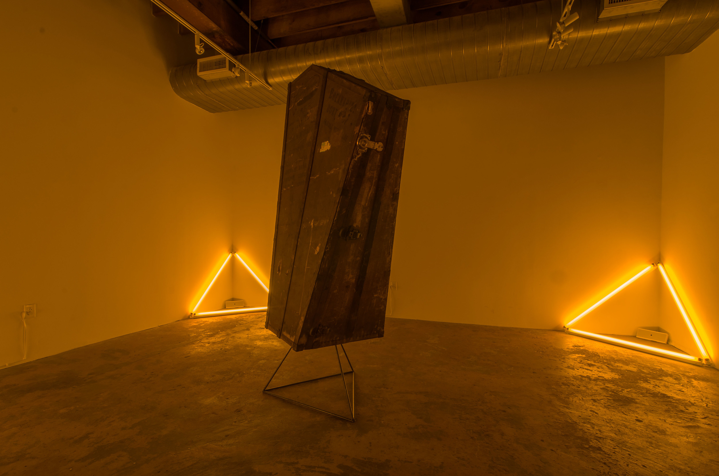 Install view.  The Cube/VAE , Raleigh, NC. Photo:  Drew Art Services