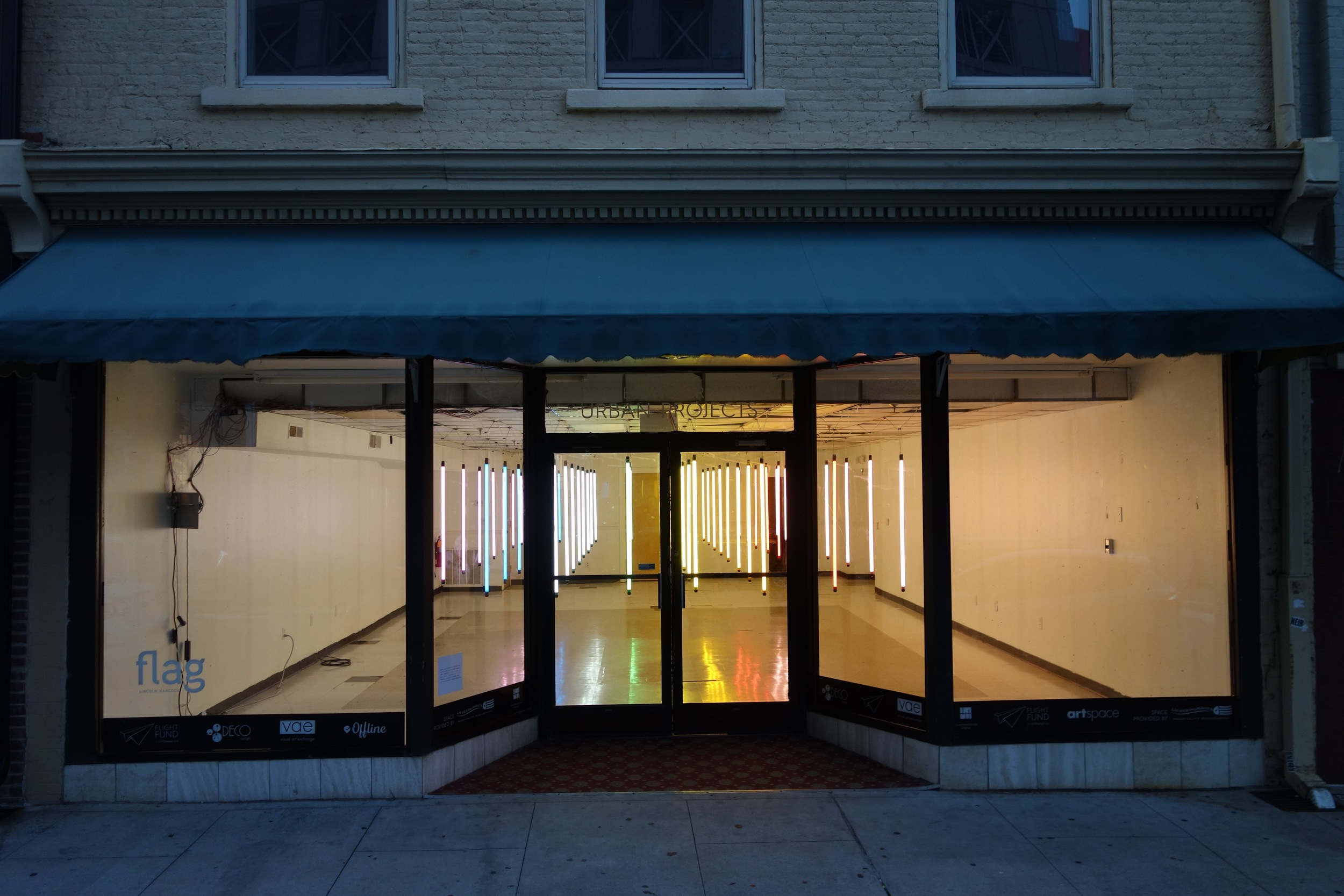 Installation at 17 E. Martin St., Raleigh, NC, July–Sept. 2016