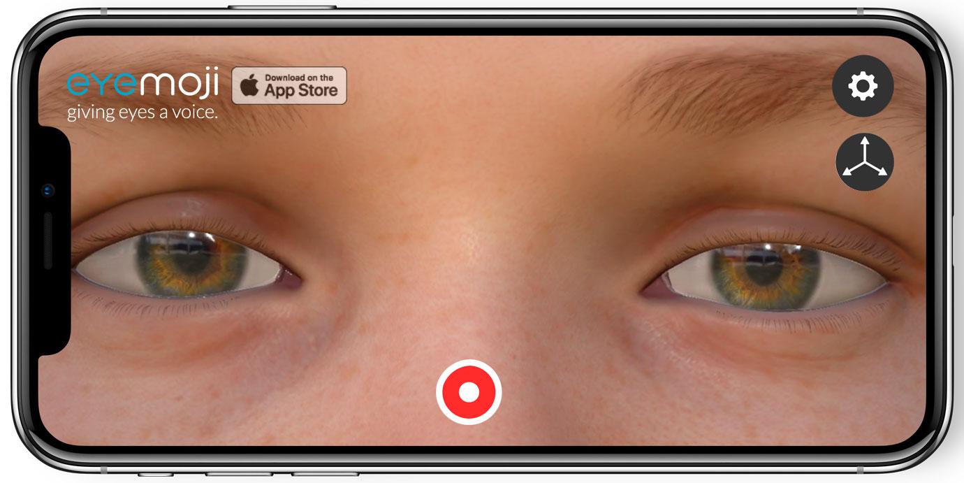 Download eyeMoji App - Download the eyeMoji app in the App Store. See eye3D eyes in Unreal on iPhone.