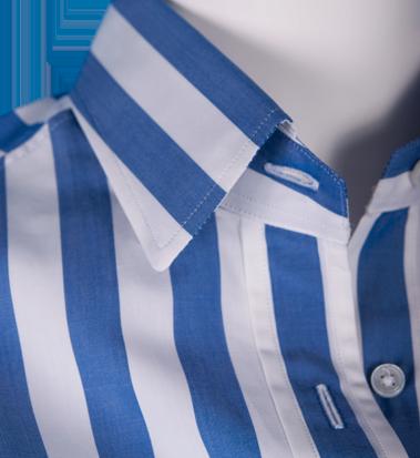 Blusa Rayas Blanco Azul