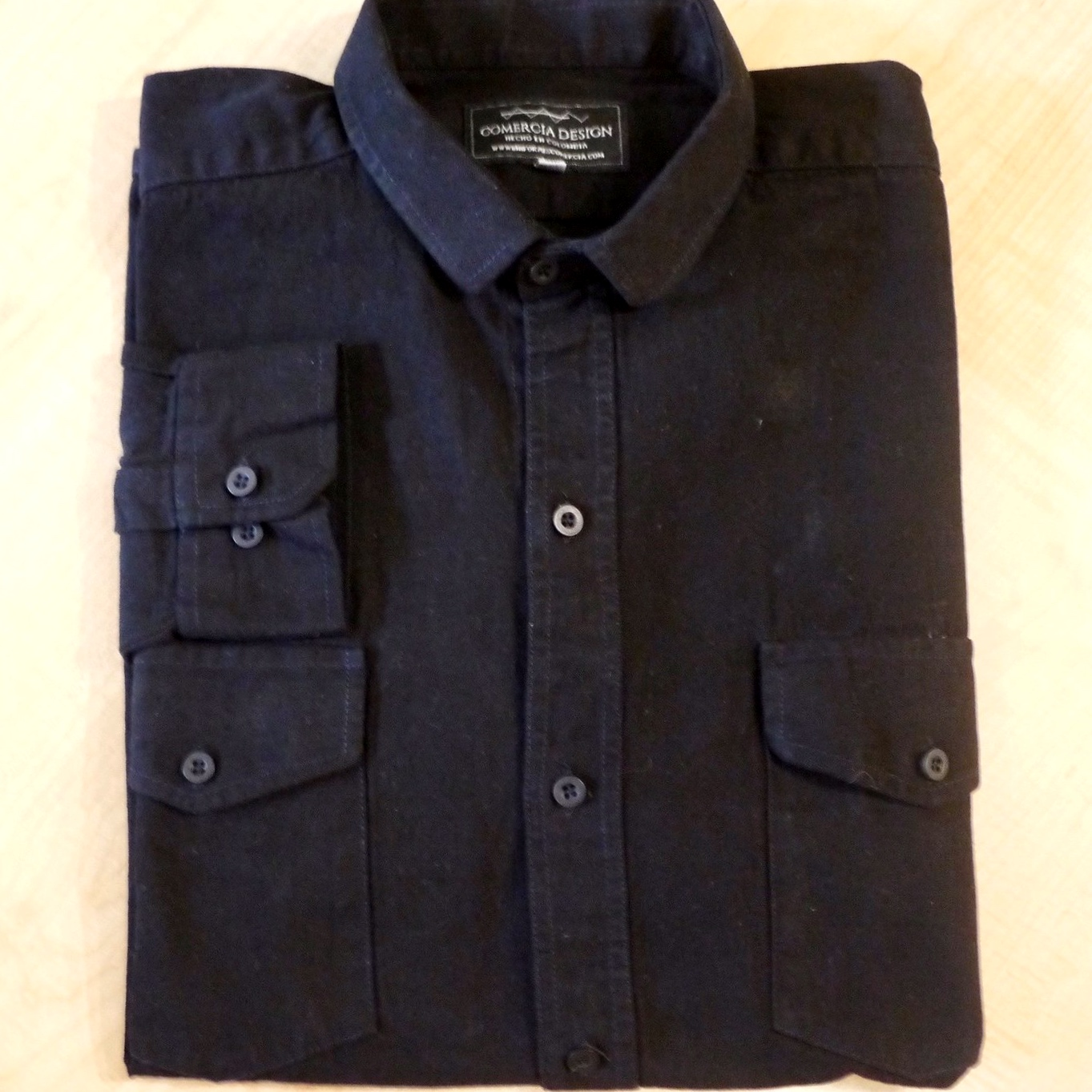 Camisa Jean Negra