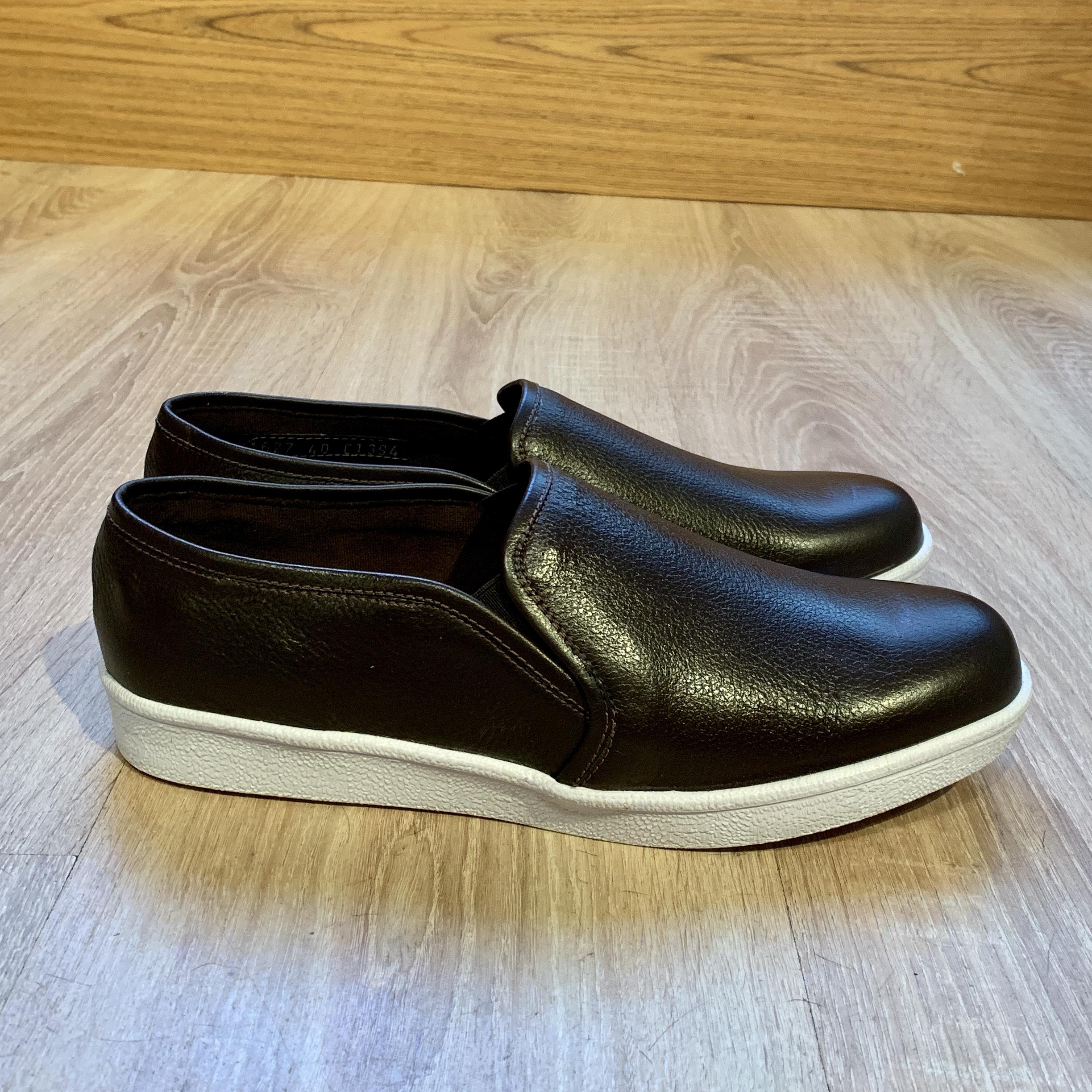 Calzado Antideslizante Cuero Negro