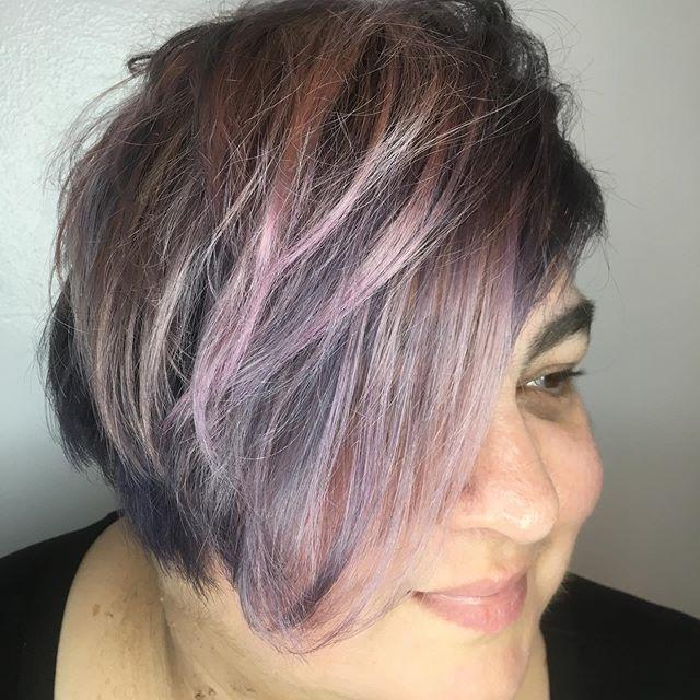 #metallic #haircolor for @mayaazulcollins ! #guytang #guytangcolor #guytanghair #randco #randcorodeostar #asymmetricalhair #shorthair #starbabystudioalameda