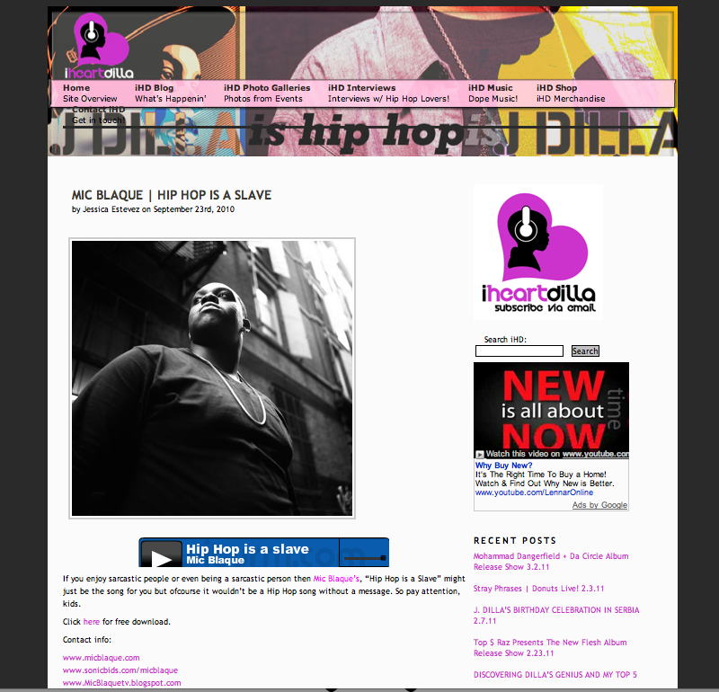 iHEART Dilla Artist of the Month Feature.