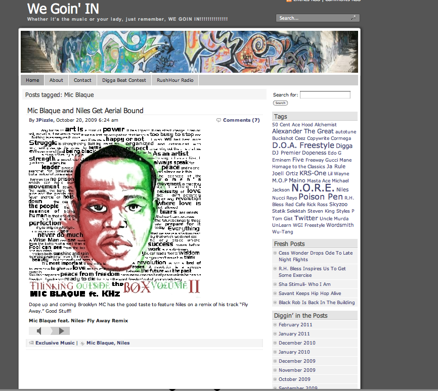 Featured on We Goin' In.