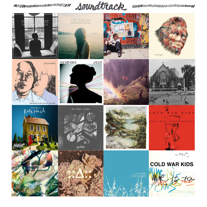 Different Sleep, DMB, Siskiyou, Rilo Kiley, Feist, Youth Lagoon, Mister Lies & Different Sleep, Kate Nash, Oliver Tank, Bon Iver, Cold War Kids, The Townhouses, Made In Heights, The Shins