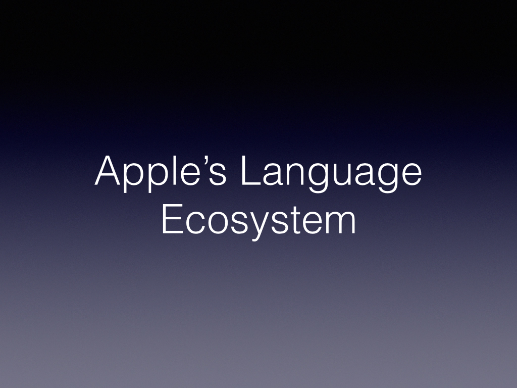 So why did Apple bother with creating Swift? Objective-C is currently the number 3 language in the world according to Tiobe a tracker of such things.       (  http://www.tiobe.com/index.php/content/paperinfo/tpci/index.html  )       I think its understandable when you look at the stack of languages Apple was working with