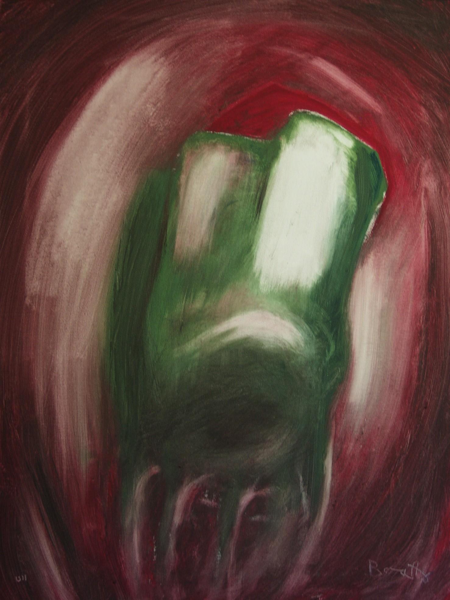 """Voglia di vita 2</br><div class=""""grey"""">cm 80 x 60, tecnica mista su tela, 2011</div>"""