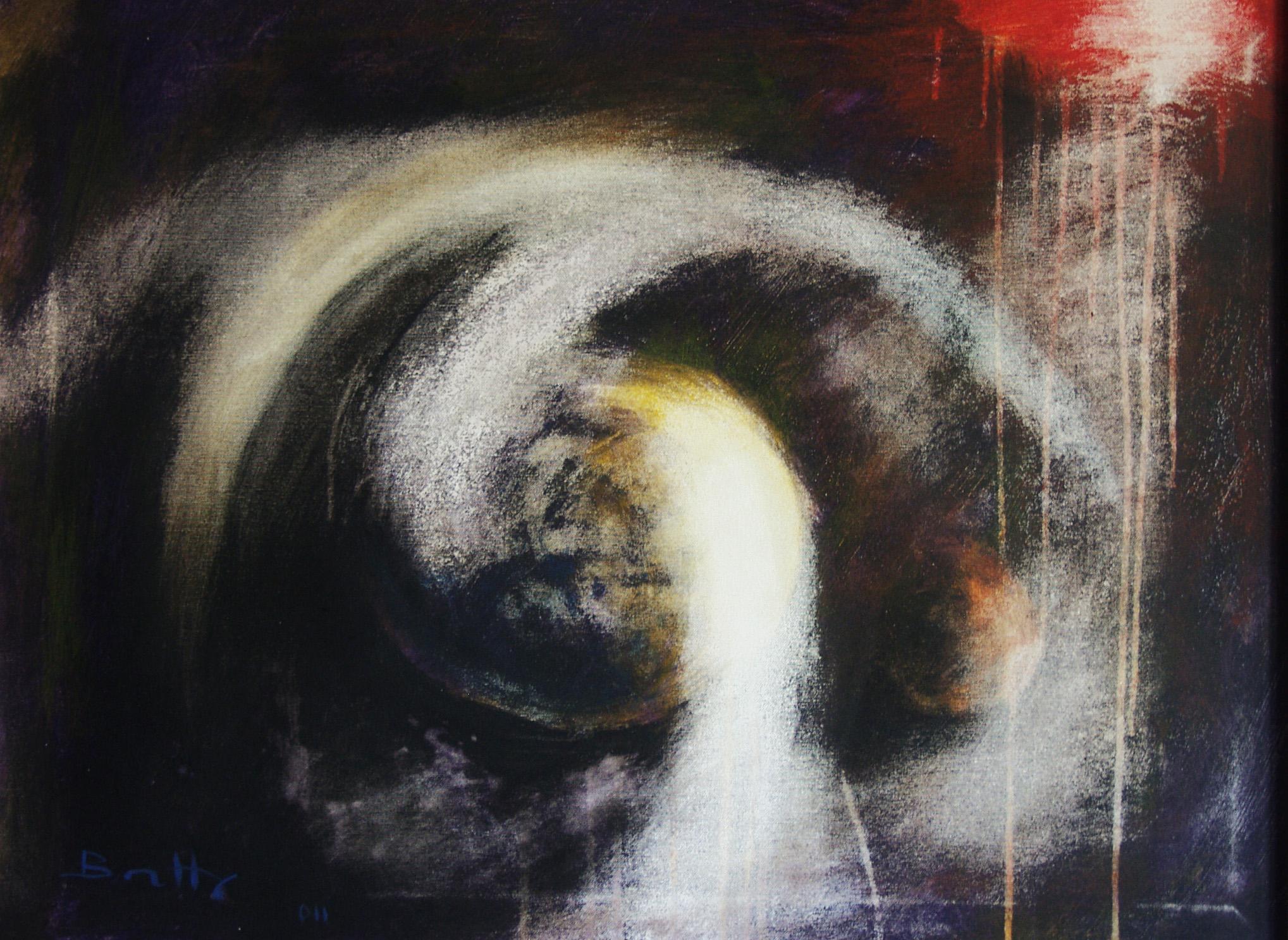 """Tentativo amorfo</br><div class=""""grey"""">cm 60x80, tecnica mista su tela, 2011</div>"""