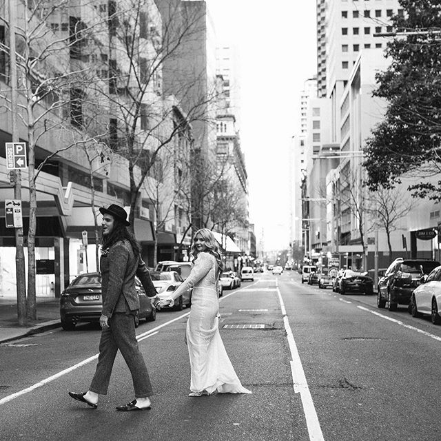 Melissa and Ben in the city. @betabarsydney