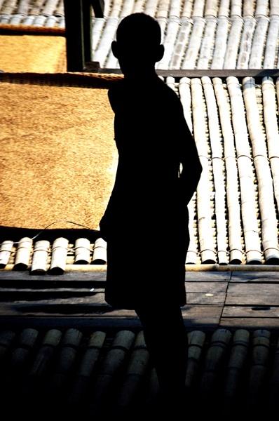 Silhouette in Borneo. Sarawak, Borneo, Malaysia. Summer 2011