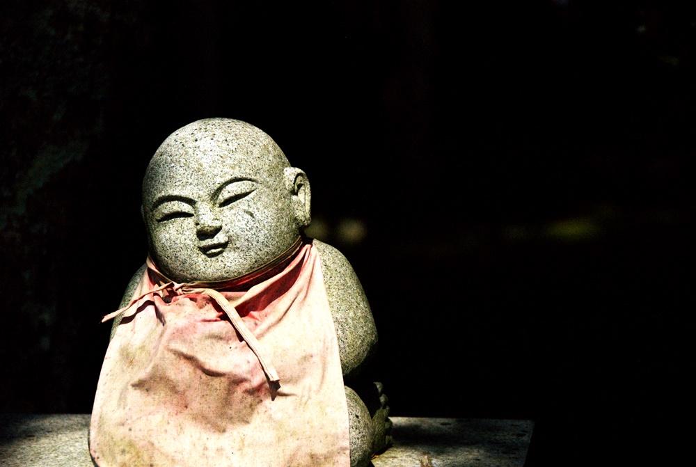 Little Jizo Statue, Kanazawa, Japan. Spring 2014