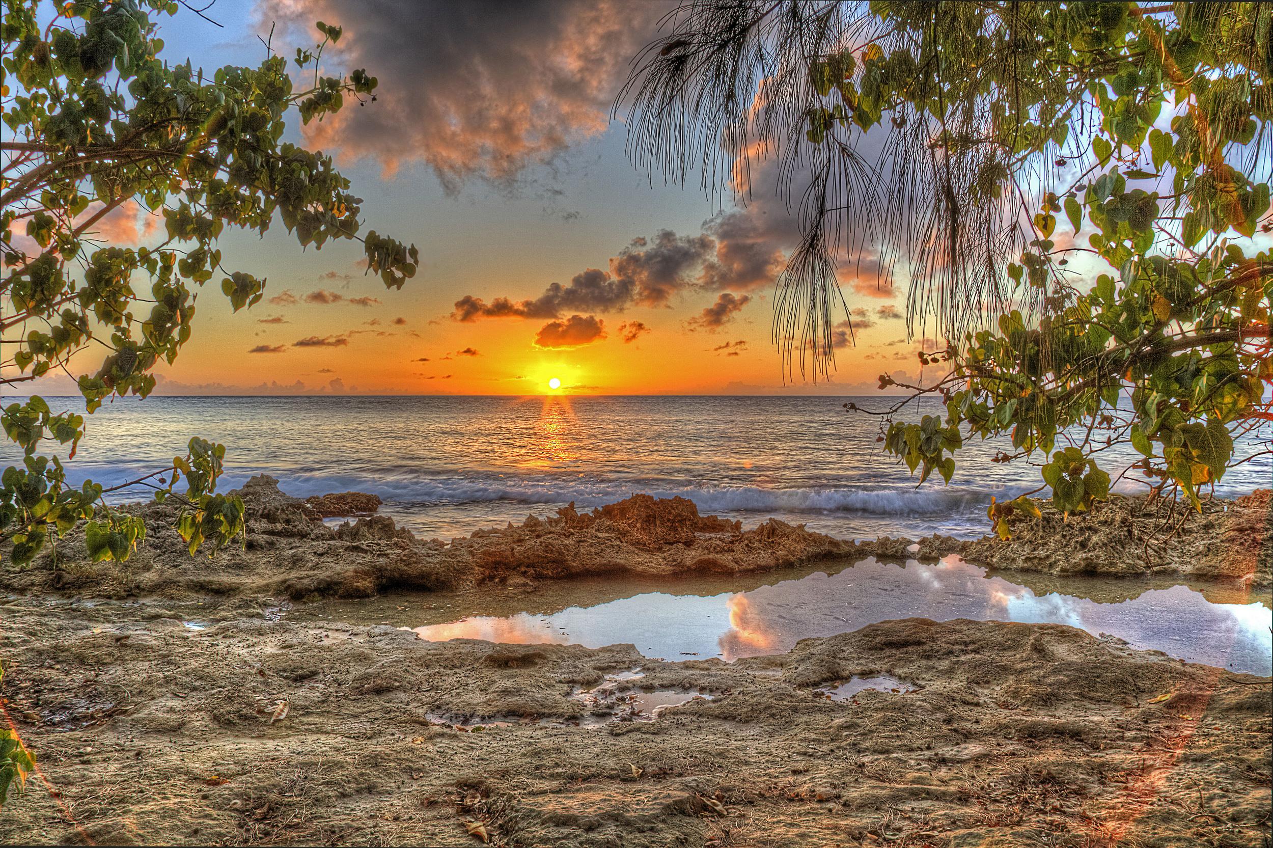 Lens Flare Sunset