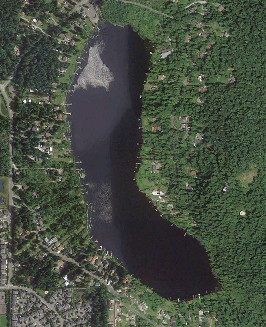 Lake Desire screenshot from Google Earth.