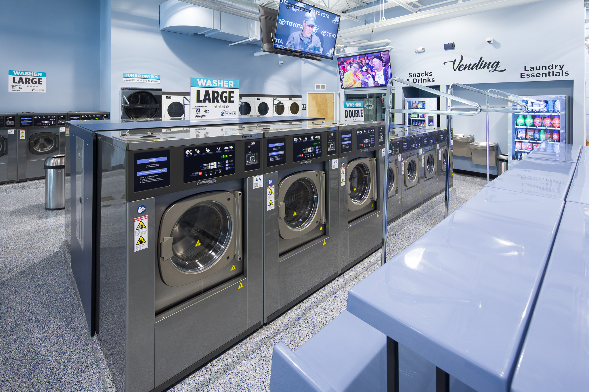 Interior View, Express Laundry Center – Pottstown, PA