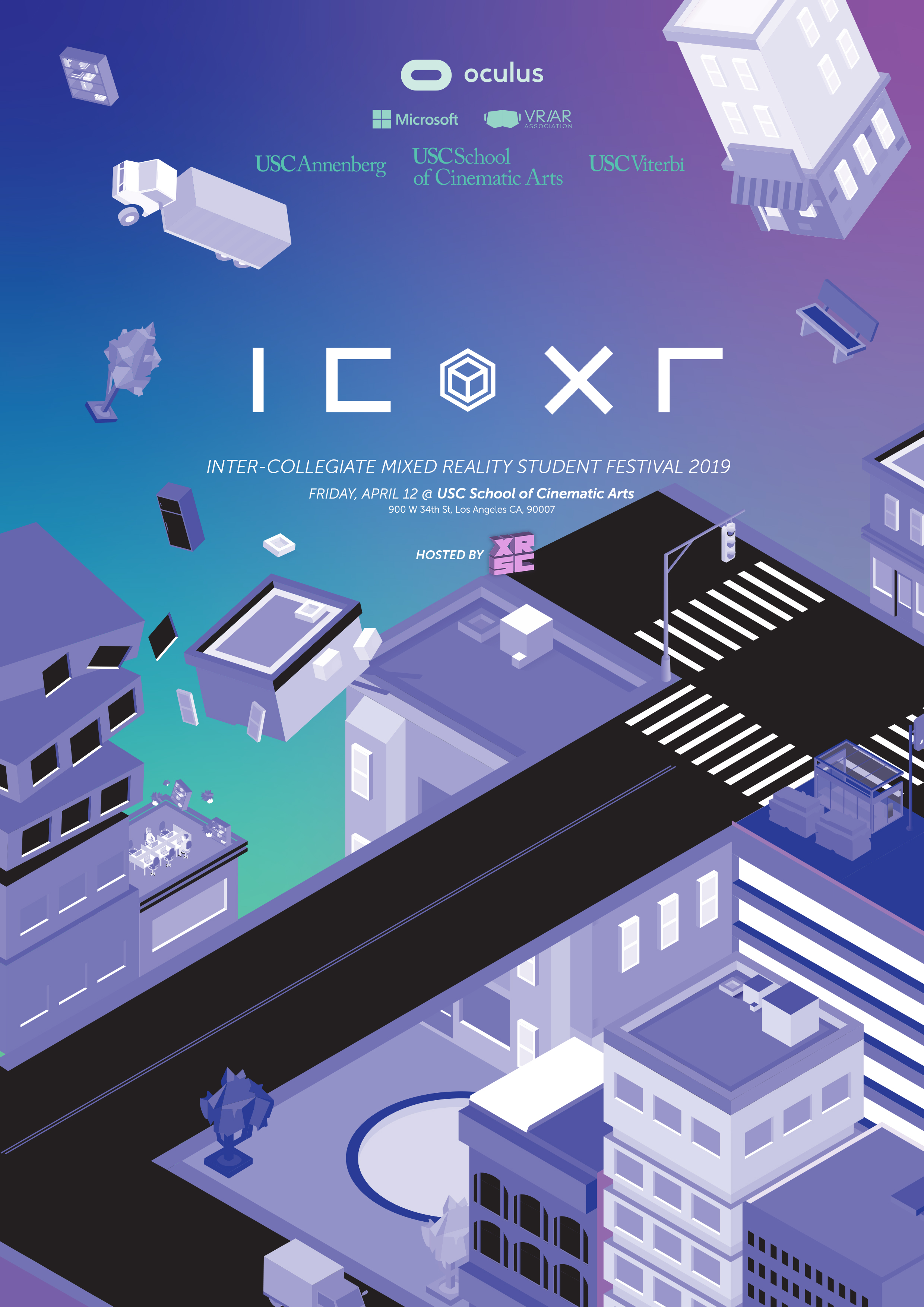 ICXR 2019 Festival Branding - Creating a distinct visual identity for the 1st annual Inter-Collegiate Mixed Reality Student Festival