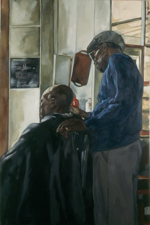 Boundary I, 2000. Barbara Walker. Oil on canvas, 182 x121cm. Image courtesy of the artist.