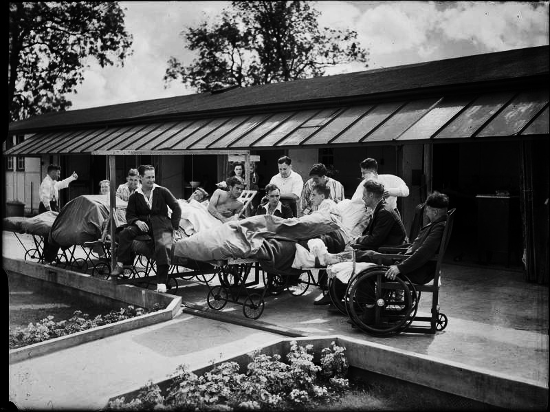 The Robert Jones and Dame Agnes Hunt Orthopaedic Hospital during WW2, from  IWM