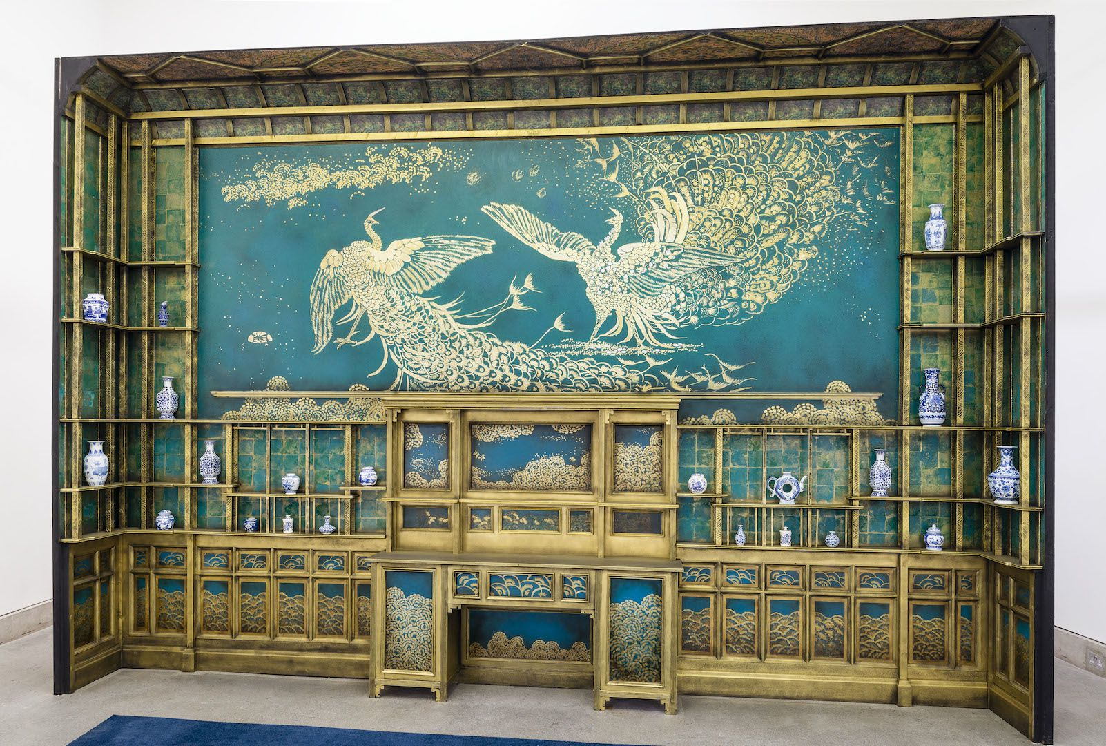 James McNeill Whistler, Harmony in Blue and Gold: The Peacock Room, 1876–77. Reproduction by Olivia du Monceau, 2014 . Photograph by Roger Sinek.