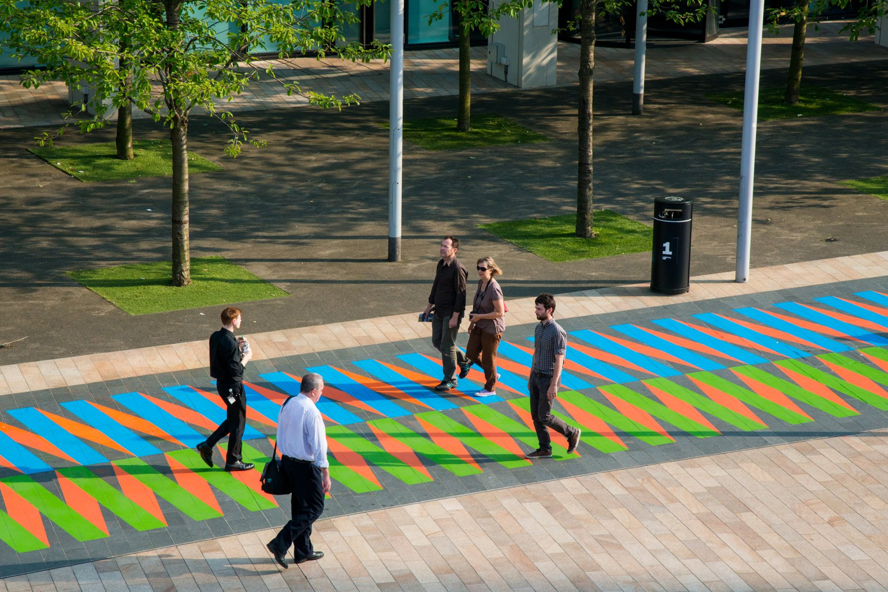 Carlos Cruz-Diez, Couleur Additive Liverpool ONE, Liverpool. Paris, 2014. Commissioned by Liverpool Biennial, 2014. Photograph by Mark McNulty.