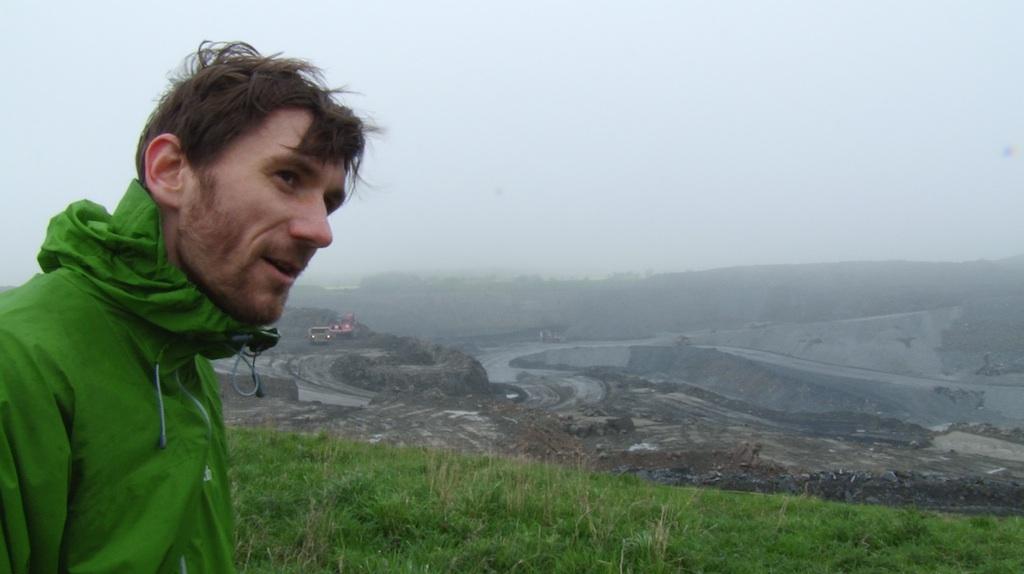 Aaron Guy at Ashington Open Cast Mines