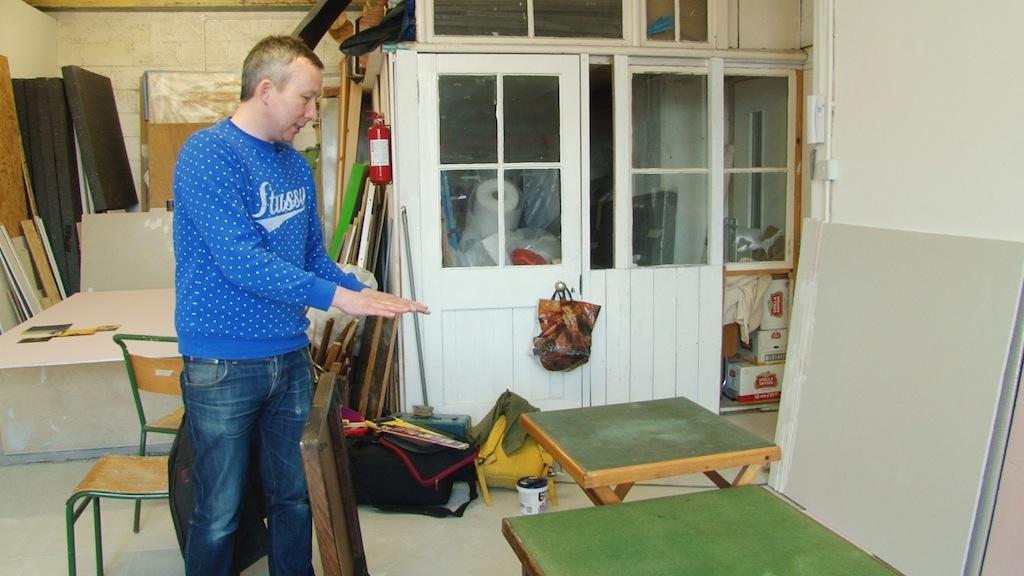 Paul Merrick in his studio