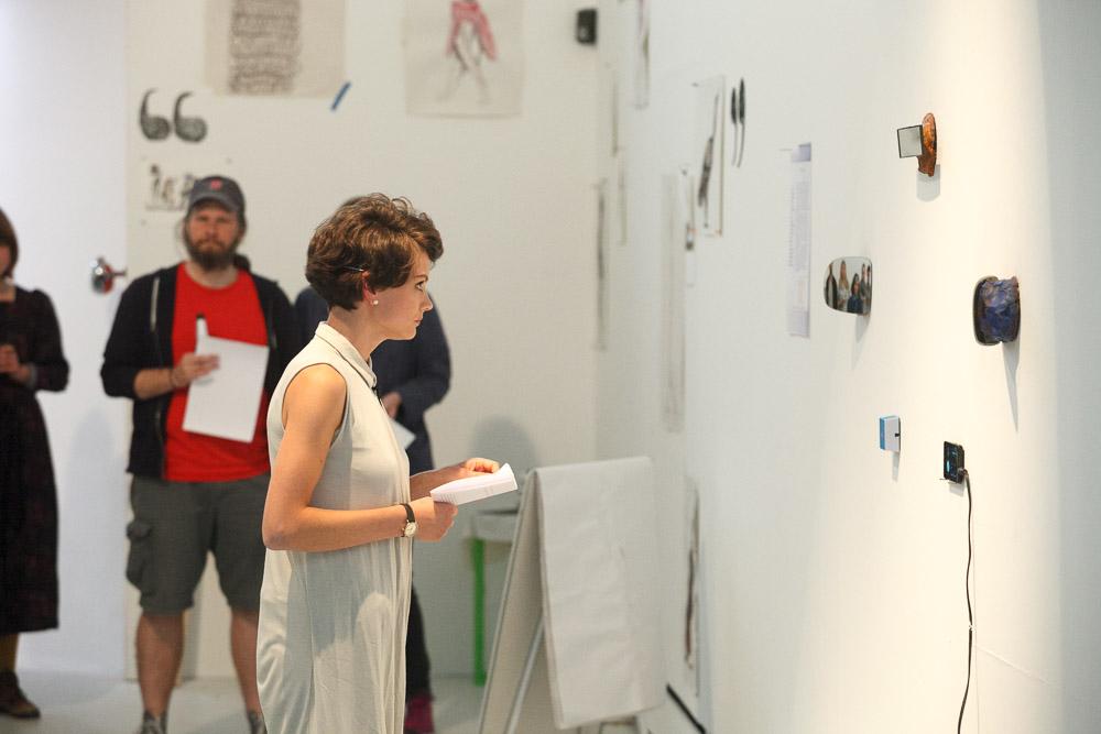 Leverhulme Artists Summer School exhibition final presentation, Wysing Arts Centre 2014 Photo: Mike Cameron